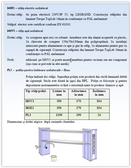 MSE1-stalp electric unilateral